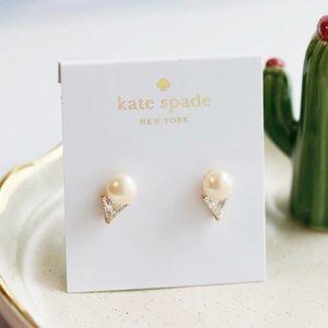Kate Spade Bright Ideas Triangle Pearl Studs